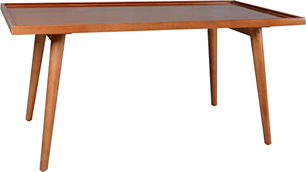 Porthos Home Tray Top Mid Century Console Table Natural