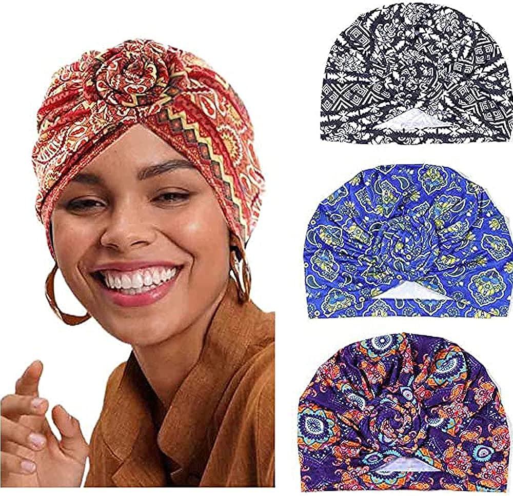Rare Bestmaple 4Packs African Pattern Turban Knot Headwrap Super popular specialty store Hai Flower