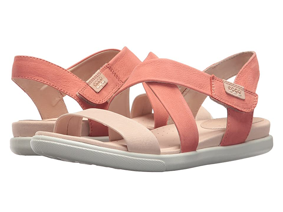ECCO Damara Crisscross Sandal (Rose Dust/Coral Cow Nubuck) Women