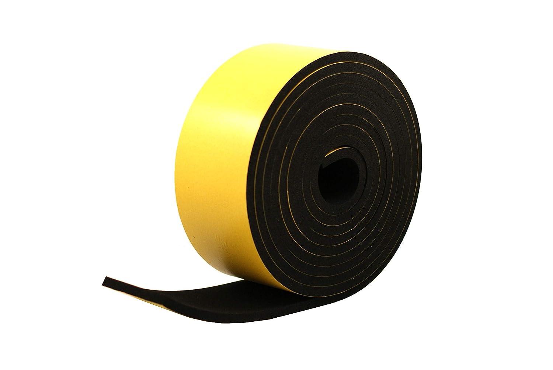 Neoprene Rubber Black Self-Adhesive Sponge Strip 1 1//2 Wide x 5//16 Thick x 16 feet Long
