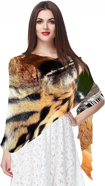 Scarfs for Women Lightweight Fashion Scarves Print Floral Pattern Scarf Shawl Wraps, Dazed Tiger