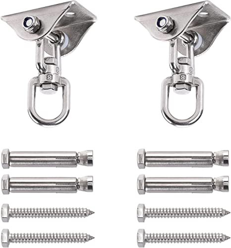 discount GSM Brands Swing Hangers Heavy Duty Capacity (1000 lbs - Set of 2) online Stainless Steel Permanent online sale Mount for Wood or Concrete outlet sale