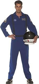 Blue Mens Adult Astronaut Costume Fight Suit