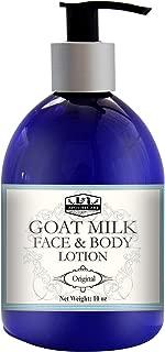 10 fl. Oz. Deeply Moisturizing Goat Milk Lotion, Face & Body Lotion, Smooth radiant skin, Moisturizing lotion, Hydrating Lotion, Natural Face Lotion, Milk lotion, Body Milk (Original - Unscented)