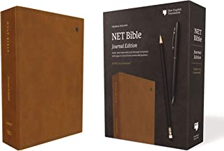 NET Bible, Journal Edition, Leathersoft, Brown, Comfort Print: Holy Bible