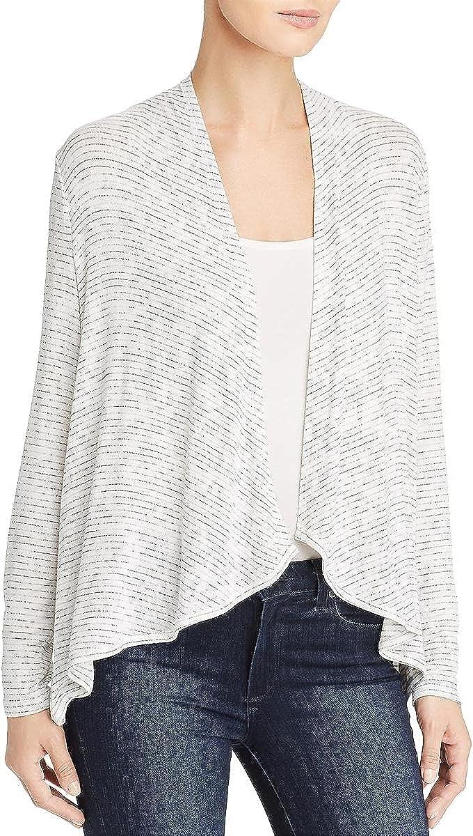 Cupio Blush Womens Striped Long Sleeves Cardigan Sweater