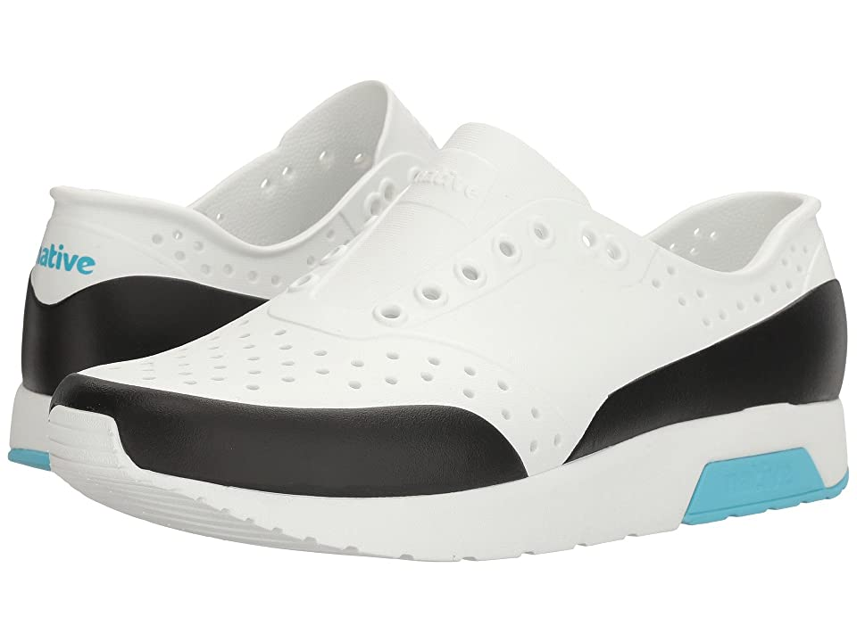 Native Shoes Lennox (Shell White/Shell White/Surfer Blue/Jiffy Block) Athletic Shoes
