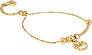 Michael Kors Women Cubic Zirconia Charms Bracelet Gold Plated