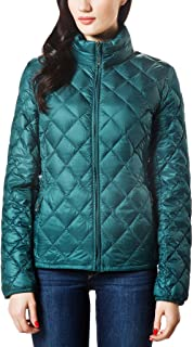 XPOSURZONE Women Packable Down Quilted Jacket Lightweight Puffer Coat