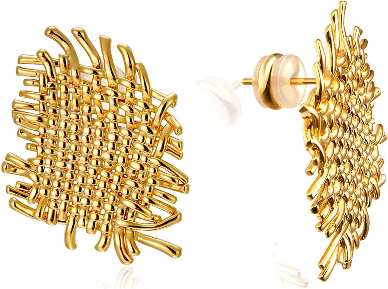 Statement Earrings for shop Women Max 45% OFF Dainty Stud Hypoa Gold 18k