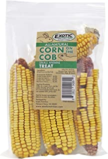 All-Natural Corn On The Cob - Healthy Natural Vegetable Treat - For Hedgehogs, Squirrels, Chinchillas, Prairie Dogs, Degus, Rabbits, Guinea Pigs, Hamsters, Gerbils, Birds and Other Herbivores