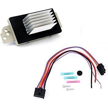 Amazon.com: Blower Motor Resistor Complete Kit with Harness - Replaces 15  81773, 89018778, 89019351, 1581773, 15-81773 - Compatible with Chevy, GMC  Vehicles - Silverado, Tahoe, Suburban, Sierra, Yukon XL - AC: AutomotiveAmazon.com