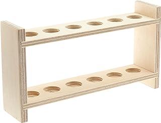 neolab S de 7050Tubo de ensayo (estructura de madera para 6vasos, orificios de 20mm de diámetro
