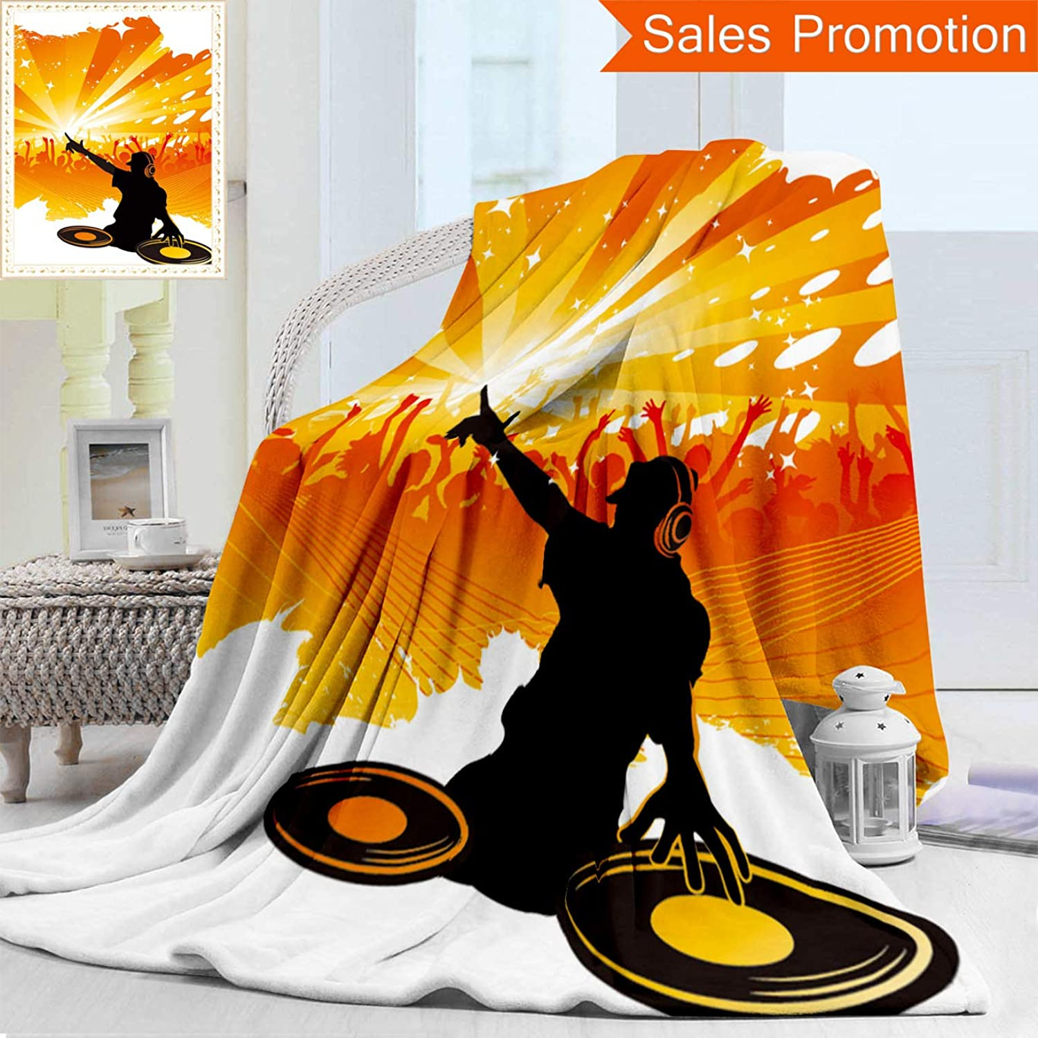 Opposo Unique Double Sides 3D Print Flannel Blanket Dj Cozy Plush Supersoft Blankets for Couch Bed, Throw Blanket 50  x 70