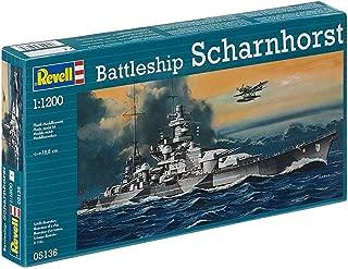 Revell 05136 WWII German Battleship Scharnhorst 1/1200 Scale Plastic Model Kit