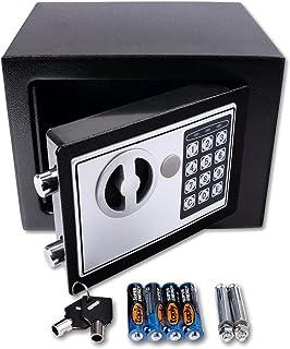 comprar comparacion Schramm® Caja Fuerte electrónica 23x17x17cm Caja Fuerte de Muebles Caja Fuerte de Pared con Cerradura de combinación Digital
