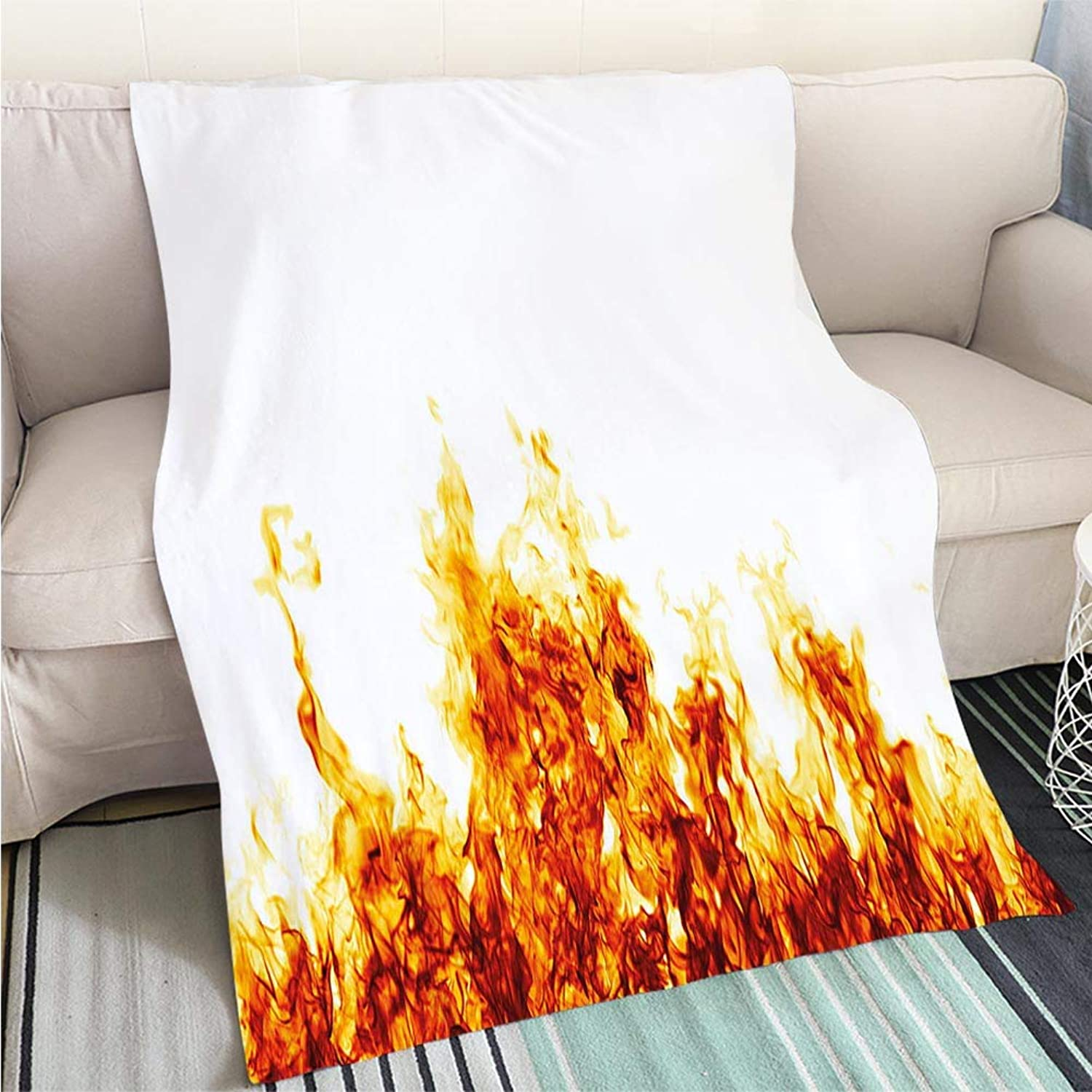 Art Design Photos Cool Quilt fire Flame Isolated Over White Background Hypoallergenic Blanket for Bed Couch Chair