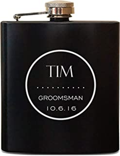 Groomsman Flask, Personalized Flask, Engraved Hip Flask, Bridal Party Gift, Father of Bride Groom, Usher