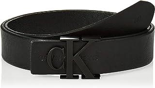 Calvin Klein Women's J SKINNY MONOGRAM 3CM Belt, Black, 80 cm