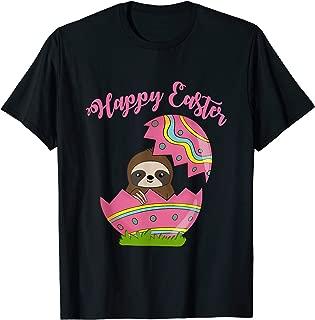 Sloth Easter Egg Happy graphic t-shirt kids, men, women