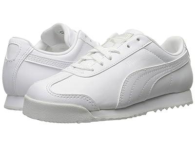 Puma Kids Roma Basic PS (Little Kid/Big Kid) (Puma White/Gray Violet) Kids Shoes