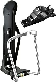 Lumintrail Adjustable Bike Bicycle Lightweight Aluminum Alloy Water Bottle Cage Holder with Handlebar Mount Bracket (1 or 2 Packs)
