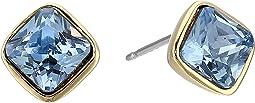 Cole Haan Cushion Cut Stone Stud Earrings
