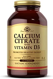 Solgar Calcium Citrate with Vitamin D3, 240 Tablets - Promotes Healthy Bones & Teeth, Supports Musculoskeletal & Nervous S...