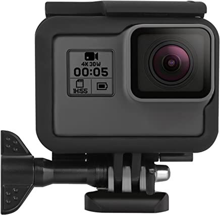 Kupton Frame for GoPro Hero 7/6 / 5 Housing Border Protective Shell Case Accessories for Go Pro Hero6 Hero5 Black with Quick Pull Movable Socket and Screw (Black)