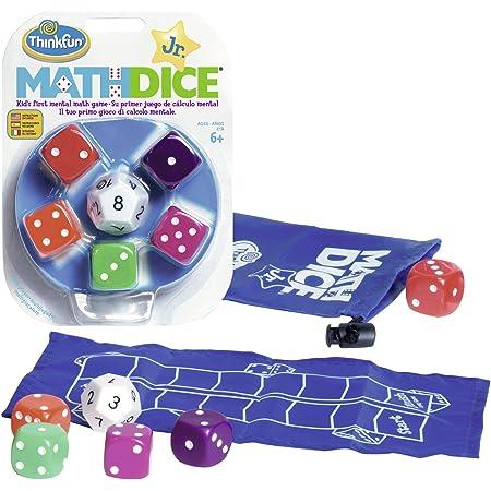 Think Fun- Math Dice Jr. Juego de Habilidad (Ravensburger 76327)