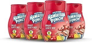 Hawaiian Punch, Fruit Juicy Red, Liquid Water Enhancer – New, Better Taste! (4 Bottles, Makes 96 Flavored Water Drinks) – Sugar Free, Zero Calorie