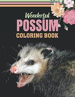 Wonderfull Possum Coloring Book: Opossum coloring book, Coloring Book, Facts, and Games, Adult Coloring Book, Children's C...