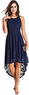 Women's Dress Halter Neck Floral Lace Bridesmaid Sleeveless for Swing Cocktail Party Evening Semi Formal