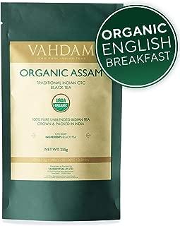 Vahdam Premium Organic Assam Black Tea & English Breakfast CTC Tea  Full Bodied, Bold, Magnificent & Delicious  Perfect for Kombucha, Iced Tea & Irish Breakfast Tea (8 Ounces, 226 grams, Bulk Pack)