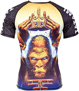Tatami King Kong Rash Guard Short Sleeve No-Gi Jiu Jitsu Compression BJJ MMA