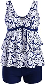 Boutique Swimsuit, 2019 Women Plus Size Bikini Set Swimwear Push-Up Padded Print Swimsuit Beachwear