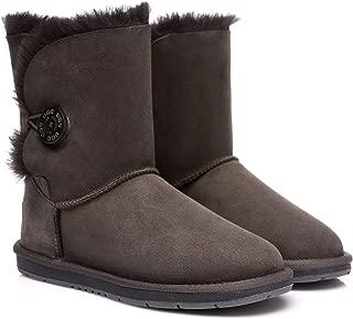 UGG Boots Australia Premium Double Face Sheepskin Short Button,Water Resistant #15802
