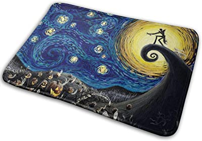 Dead The Nightmare Before Christmas Large Doormats, Non Slip Durable Washable Home Decorative Door Mats Rugs for Entrance Bedroom Bathroom Kitchen, 23 X 16 Inches