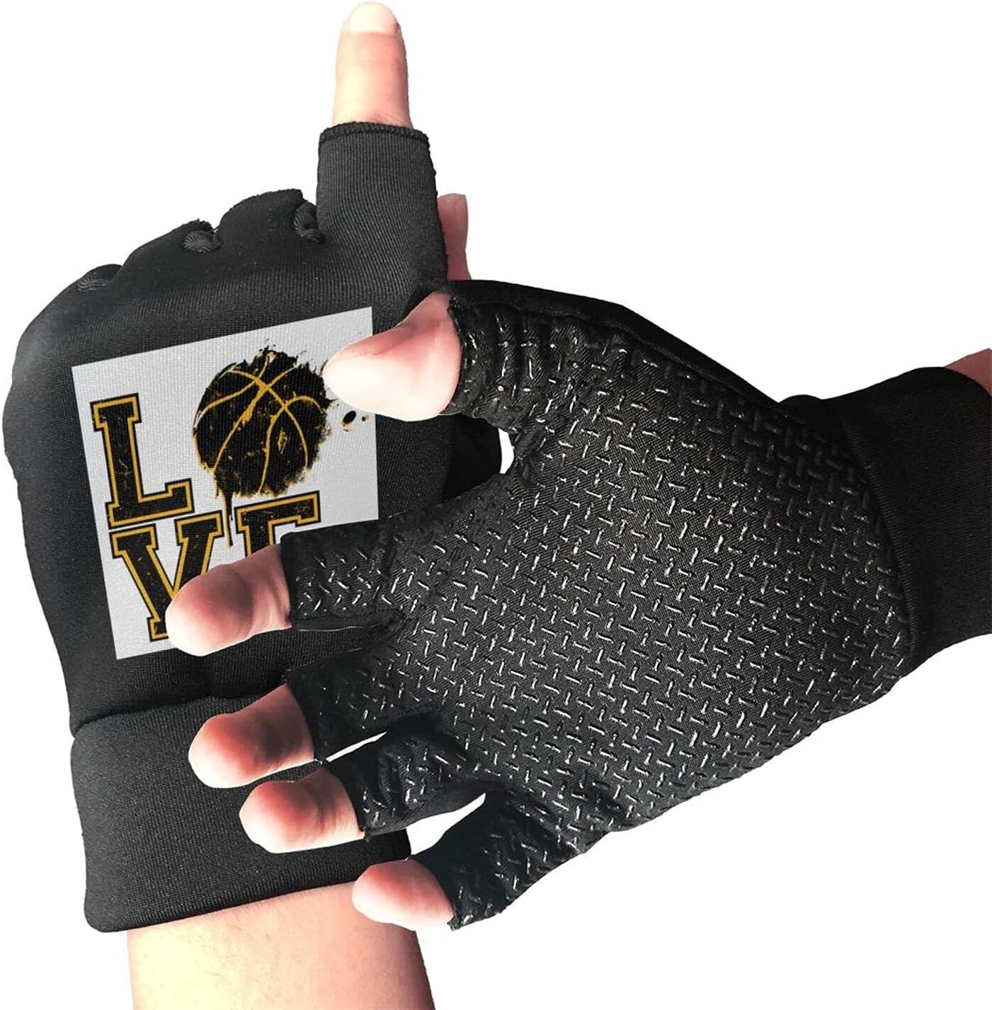 Credence New arrival Love Basketball Unisex Half Finger Lightweight Gloves D Non-Slip