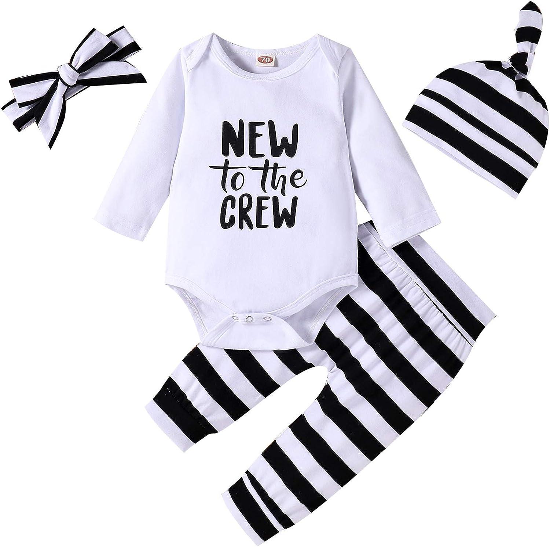 Tikoubabe Newborn Baby Boy Outfits Clothes Infant Cute Hipster Romper + Long Pants + Hat 3 Pcs