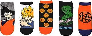 Dragon Ball Z Socks Gifts (5 Pair) - (1 Size) Dragon Ball Z Merchandise Anime Goku, Piccolo Low Cut Socks Women & Men's