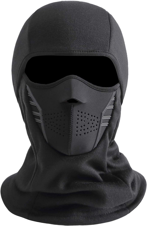 IRELIA Winter Windproof Fleece Ski Mask Balaclava Headwear Motorcycle Thermal Face Mask Bandanas