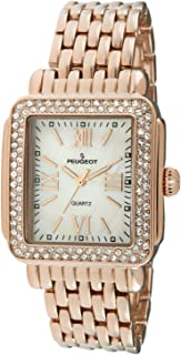 Rectangle Deco Crystal Bezel Bracelet Dress Watch