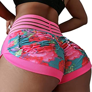 CFR Women's Sports Shorts Scrunch Butt High Waist Yoga Gym Running Pants Casual Short Leggings