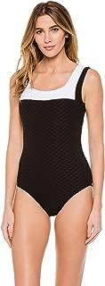 Paula Swimwear Women's Swordfish Textured Over The Shoulder One Piece Swimsuit