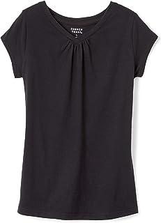 تی شرت آستین کوتاه V-Neck دختران توست فرانسوی