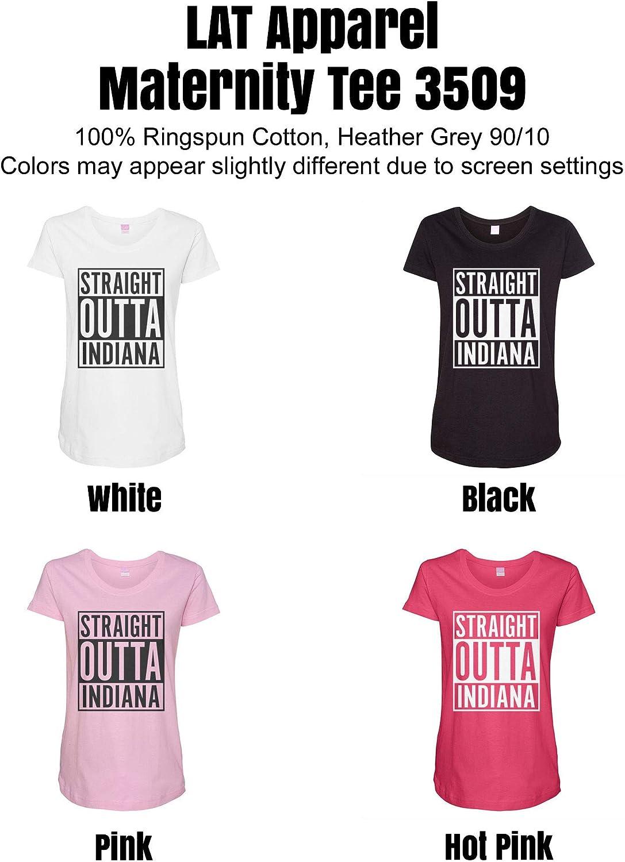 HARD EDGE DESIGN Women's Straight Outta Indiana T-Shirt