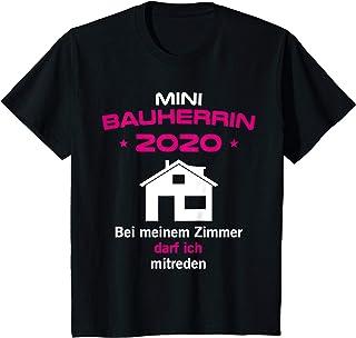 Bauherrinnen und Bauherren Familien Geschenkideen Kinder Mini Bauherrin 2020 Geschenk Hausbau Richtfest Entscheiderin T-Shirt