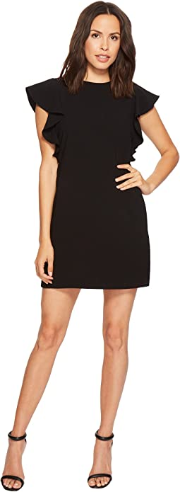 Laundry by Shelli Segal Crepe Shift Dress with Metal Details