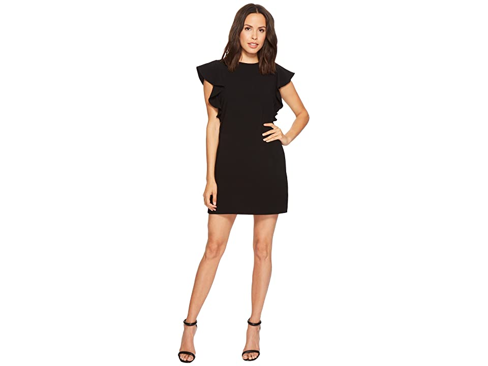 Laundry by Shelli Segal Crepe Shift Dress with Metal Details (Black) Women